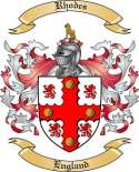 Rhodes Family Crest from England