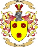 Rhose Family Crest from Germany2