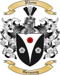 Rhose Family Coat of Arms from Germany