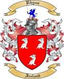 Rhyan Family Crest from Ireland