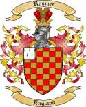 Rhymes Family Coat of Arms from England