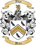 Rhys Family Coat of Arms from Wales
