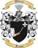 Ribeau Family Crest from France