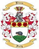 Ricca Family Crest from Italy2