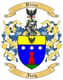 Ricca Family Crest from Italy