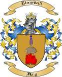 Riccardelli Family Crest from Italy