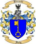 Riccardi Family Crest from Italy2