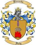 Riccardo Family Crest from Italy