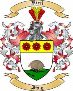 Ricci Family Crest from Italy2