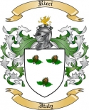 Ricci Family Coat of Arms from Italy