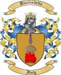 Ricciardella Family Crest from Italy