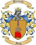 Ricciardi Family Crest from Italy