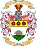 Riccio Family Crest from Italy2
