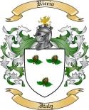 Riccio Family Crest from Italy