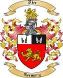 Rice Family Coat of Arms from Germany