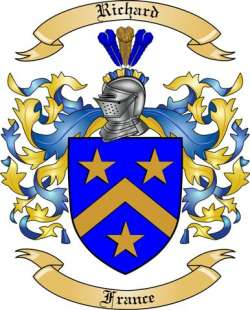 Richard Family Crest from France