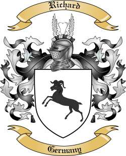 Richard Family Crest from Germany2