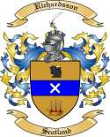 Richardsson Family Coat of Arms from Scotland