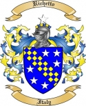 Richetto Family Coat of Arms from Italy