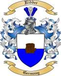 Ridder Family Coat of Arms from Germany