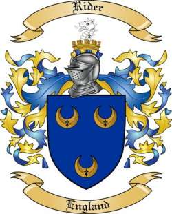 Rider Family Crest from England