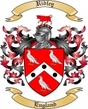 Ridley Family Coat of Arms from England