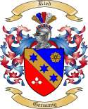 Ried Family Crest from Germany