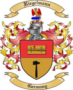 Riegelmann Family Coat of Arms from Germany