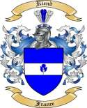 Riend Family Crest from France