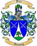 Ries Family Crest from Germany