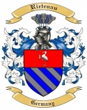 Rietenau Family Crest from Germany