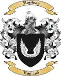 Rigeway Family Coat of Arms from England