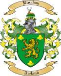 Rinahan Family Crest from Ireland