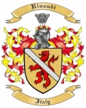 Rinaudi Family Crest from Italy