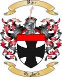 Rine Family Coat of Arms from England