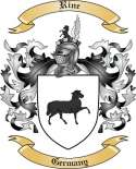 Rine Family Crest from Germany