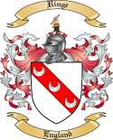 Ringe Family Coat of Arms from England