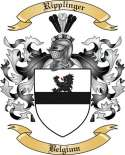 Ripplinger Family Coat of Arms from Belgium