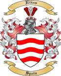 Rivas Family Crest from Spain