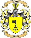 Rivero Family Crest from Spain2