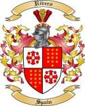 Rivero Family Crest from Spain