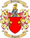 Robbings Family Crest from England