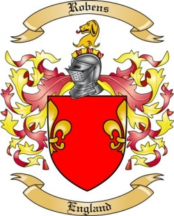 Robens Family Coat of Arms from England
