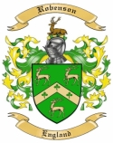Robenson Family Crest from England