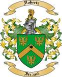 Roberts Family Crest from Ireland