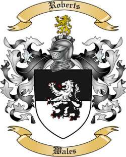 Roberts Family Coat of Arms from Wales