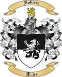 Roberts Family Crest from Wales