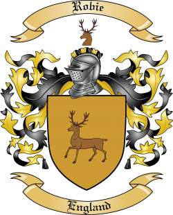 Robie Family Coat of Arms from England