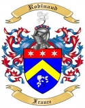 Robinaud Family Coat of Arms from France
