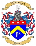 Robineault Family Coat of Arms from France